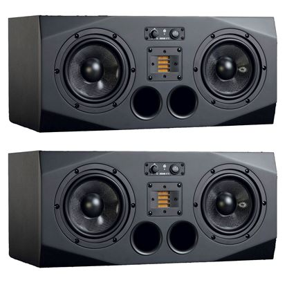 ADAM A77X 3 - Way 7 inch Active Studio Monitors Front, Pair
