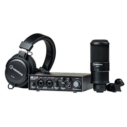 Steinberg UR22C Recording Package with Audio Interface, Mic & Headphones