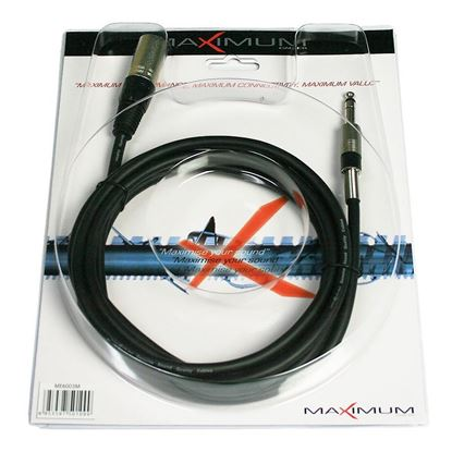 Maximum ME6003M XLR-M to 6.3mm TRS Jack Microphone Cable - 3 Metres