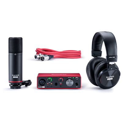 Focusrite Scarlett Solo Studio Gen 3 Audio Interface with Studio Mic and Headphones