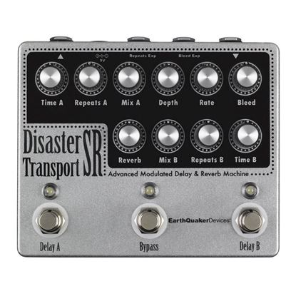 Earthquaker Devices Disaster Transport SR Advanced Modulated Delay & Reverb Machine Effects Pedal Top