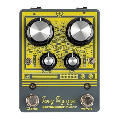 Earthquaker Devices Gray Channel Dynamic Dirt Doubler Effects Pedal Top