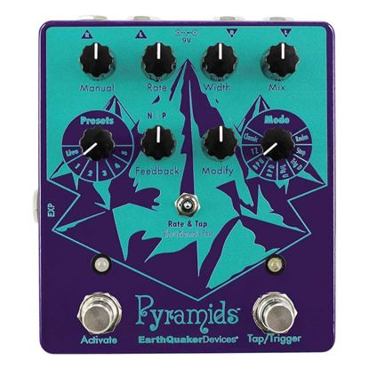 Earthquaker Devices Pyramids Stereo Flanger Effects Pedal Top