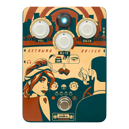 Orange Getaway Driver Drive Pedal - Front