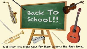 Back to School Musical Instruments and Accessories