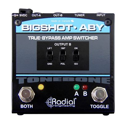 Radial BigShot Amp Switch (1-in/2-out) - Front