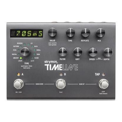 Strymon Timeline Stereo Delay Effects Pedal Top View