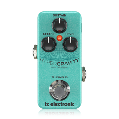 TC Electronic Hyper Gravity Mini Compressor Guitar Effects Pedal - Front