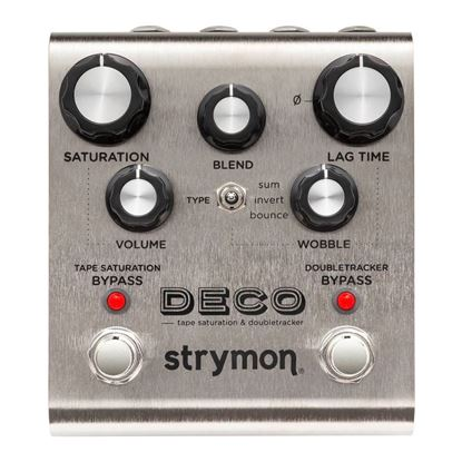 Strymon Deco Tape Saturation Double Tracker Effects Pedal Top View
