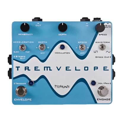 Pigtronix Tremvelope Guitar Effects Pedal - Front