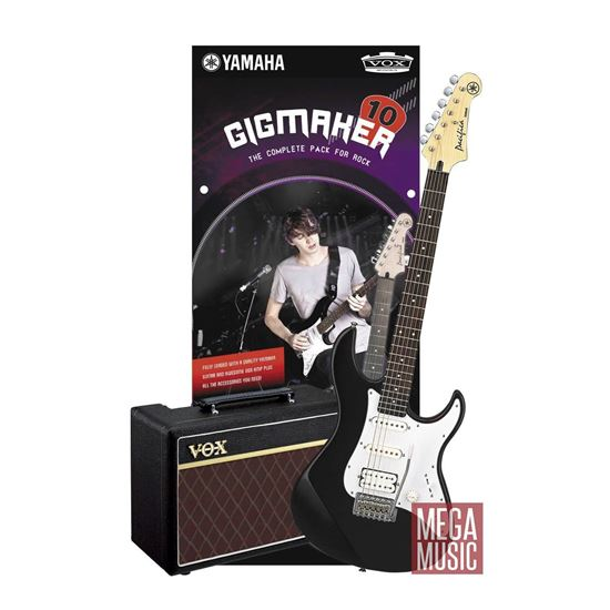 Yamaha Gigmaker Electric Guitar Pack (Guitar and Vox Amplifier) Black