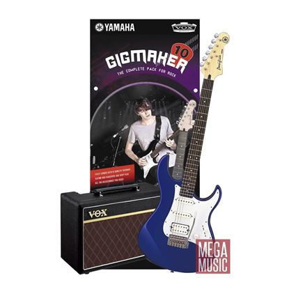 Yamaha Gigmaker Electric Guitar Pack (Guitar and Vox Amplifier) Dark Blue Metallic
