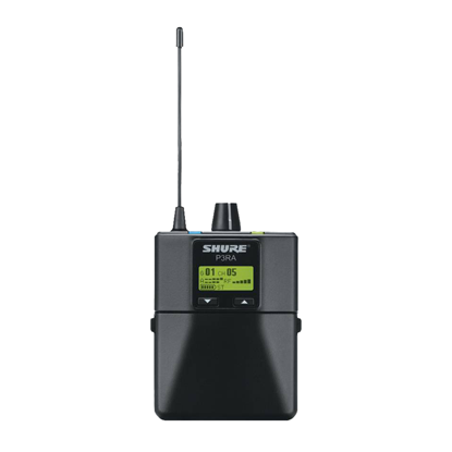Shure P3RA PSM300 Professional Wireless Bodypack (L19: 630-654 MHz) - Front