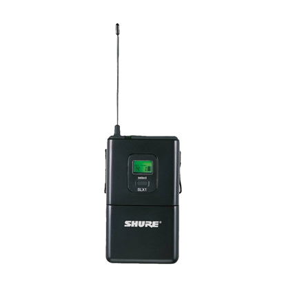 Shure SLX1 Wireless Mic Bodypack Transmitter (J3: 572-596MHz)