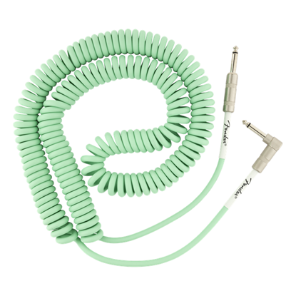 Fender Original Series Coil 30 Foot Straight-Angle Guitar Cable Surf Green