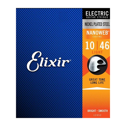 Elixir 10-46 Electric Guitar Strings NANOWEB Coated Light Gauge