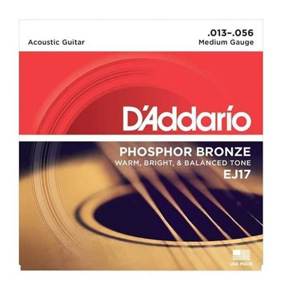 D'Addario EJ17 Acoustic Guitar Strings 13-56 Phosphor Bronze Medium