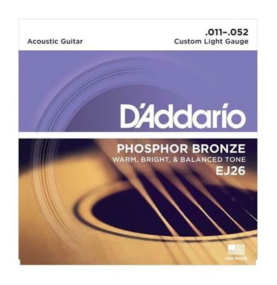 D'Addario EJ26 Acoustic Guitar Strings 11-52 Phosphor Custom Light