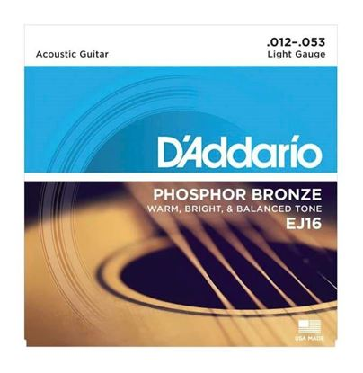 D'Addario EJ16 Acoustic Guitar Strings 12-53 Phosphor Bronze Light