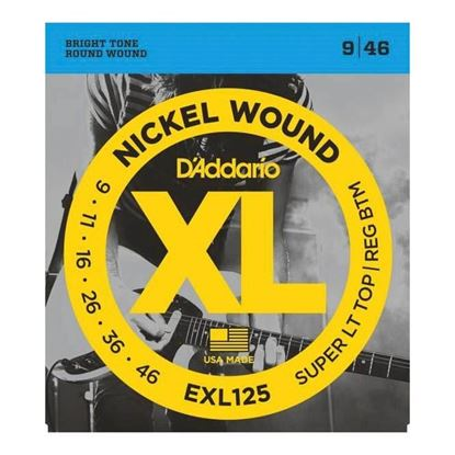 D'Addario EXL125 Electric Guitar Strings 9-46 Super Light Top/Regular Bottom