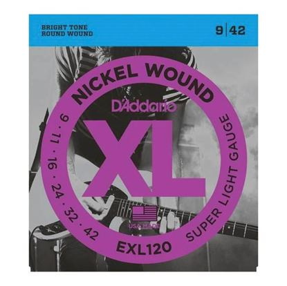 D'Addario EXL120 Electric Guitar Strings 9-42 Super Light