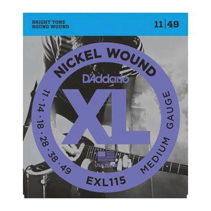 D'Addario EXL115 Electric Guitar Strings 11-49 Medium Blues/Jazz