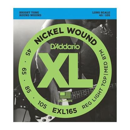 D'Addario Exl165 Bass Guitar Strings 45-105 Soft Top Reg Bottom, Long Scale