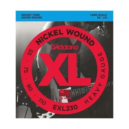 D'Addario EXL230 Bass Guitar Strings 55-110 Heavy, Long Scale