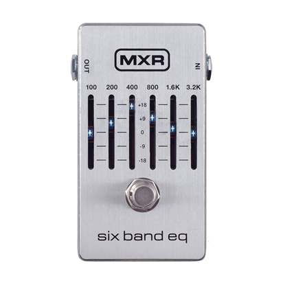 MXR 6 Band Graphic EQ Bass Guitar Effects Pedal - Front