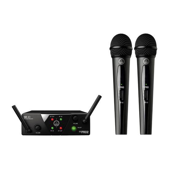 AKG WMS40 Mini Dual Vocal Set Wireless Microphone (Band A/C)
