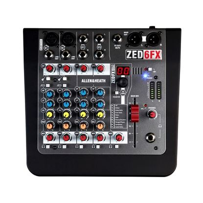 Allen & Heath Zed-6FX Compact 6-Input Analogue Mixer with Effects