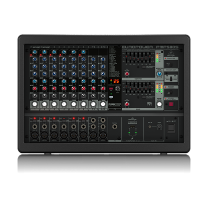 Behringer Europower PMP580S 10 Channel Powered Mixer with Effects (500 Watt)