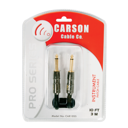 Carson Pro CAR10SS Noiseless Guitar Lead - 10 Feet