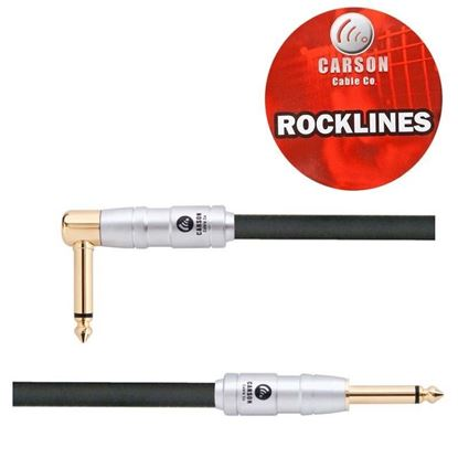 Carson ROK10SL Rocklines 10ft Straight to R/A Guitar Cable