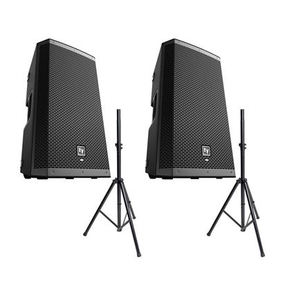 EV ZLX-12BT 12 inch Powered Bluetooth PA Speaker Package w/FREE Speaker Stands