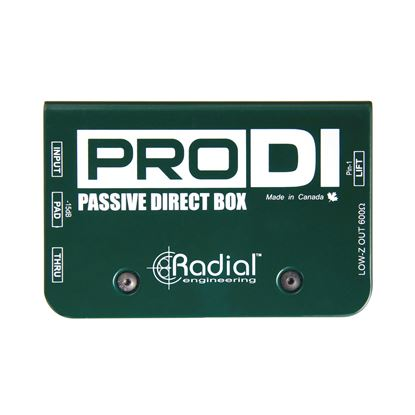 Radial ProDI 1 Channel Passive Instrument Direct Box - Top View