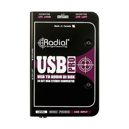 Radial USB-Pro 2 Channel Active Instrument Direct Box - Top View