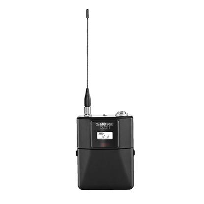 Shure QLXD1H53 Wireless Digital Mic Bodypack Transmitter (H53: 534-598MHz) - Front