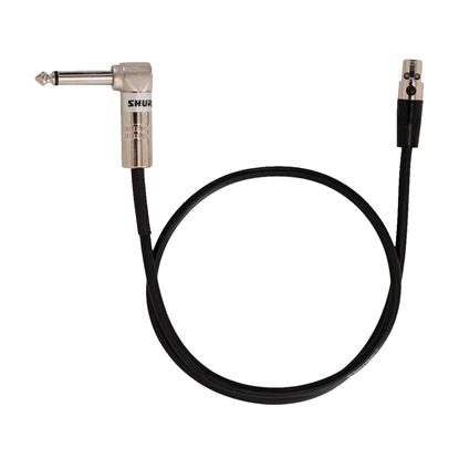 Shure WA304 Wireless RA/Jack to TA4F Instrument Cable 600mm For U1 UC1 ULX1 UR1 SLX1 PGX1