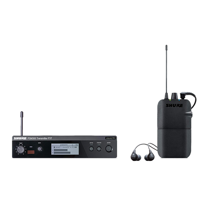 Shure P3TR112G PSM300 Wireless System with Grey SE112 Sound Isolating Earphones (J10: 584-608 MHz)