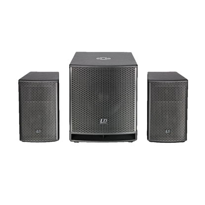 LD Systems Dave 12G3 12 Inch Split PA System - 1080W - Front