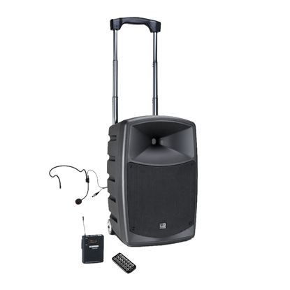 LD Systems RoadBuddy 10in Portable Speaker 480W with Wireless Headset (B6 Freq Band 655 - 679 MHz)