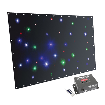 Beamz Sparklewall LED36 RGBW 1X2m LED Backdrop - Cable Ties