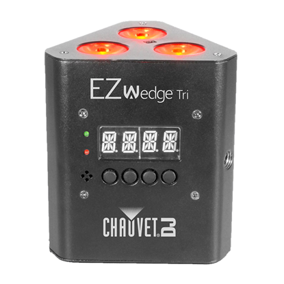 Chauvet EZ Wedge TRI LED's Uplight Battery Powered LED Wash Light - Front