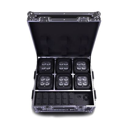 Chauvet Freedom Flex H4 IP X6 Pack Includes 6x H4IP 6x Batteries Charging Case and IRC-6 Remote