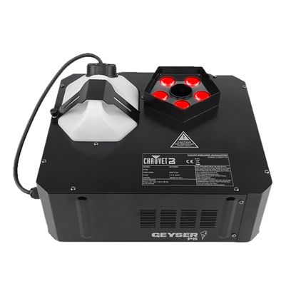 Chauvet Geyser P5 RGB 670 Watt Penta Colour Vertical Smoke Machine - Front