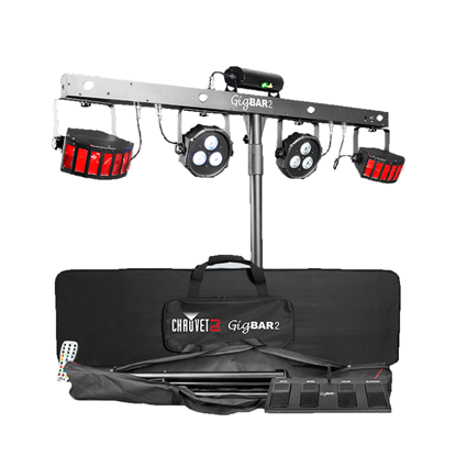 Chauvet Gig Bar 2 All-In-One DJ Lighting Effects Pack incl DMX Bar