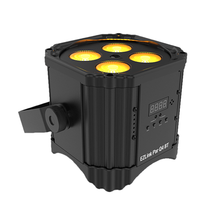 Chauvet EZLink Par Q4 BT 4 x 3 WattRGBA (4-in-1) LED Battery Operated Parcan with BT - Right