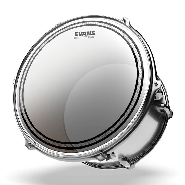 Evans 10 Inch EC2 Coated SST Drum Head - Angle