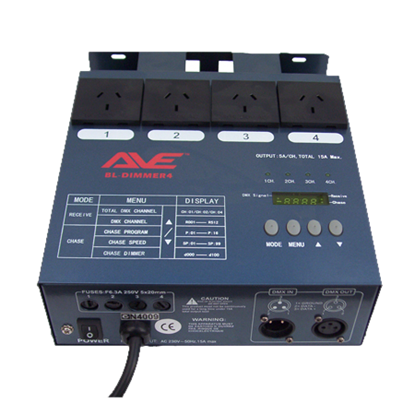 AVE BL-Dimmer 4 Channel DMX Dimmer and Chaser Box - Top